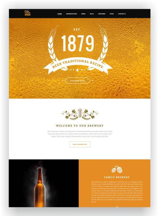 WordPress Brewhouse Theme