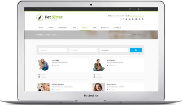 WordPress Pet Sitter Theme