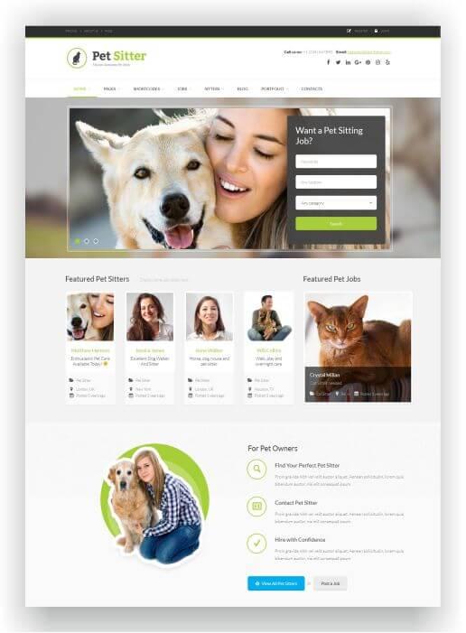 WordPress Pet Sitter Theme