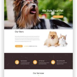 WordPress Pet Grooming Theme