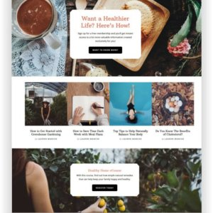WordPress Wellness Thema