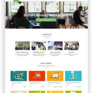 Webseite für Onlinekurse