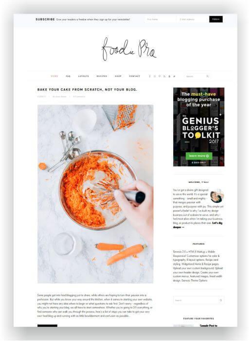 Einfaches Blog Thema