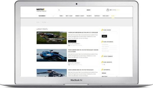 Magento MotoStore Theme