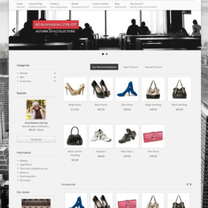 PrestaShop responsive Theme with Blog