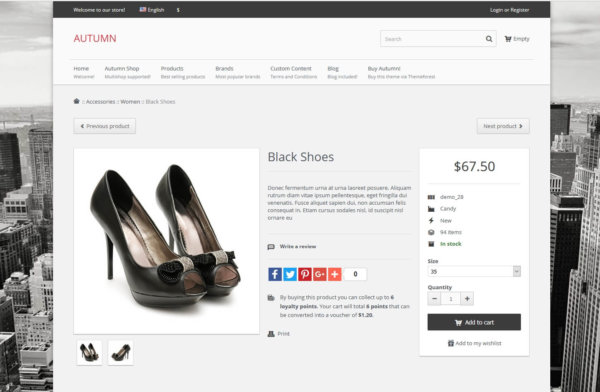 PrestaShop responsive Theme with Blog