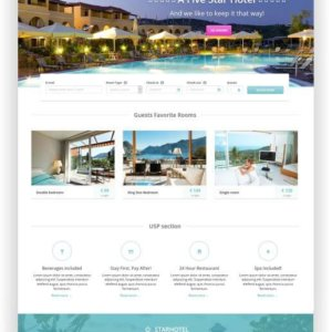 HTML5 Hotel Theme Starhotel