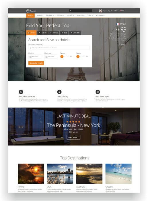 HTML5 Booking Template