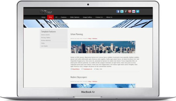 Joomla Blog Template