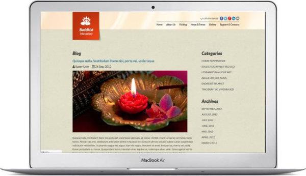 Joomla Buddhist Website