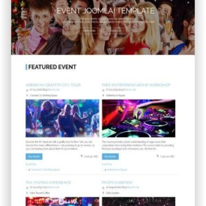 Joomla Event Theme