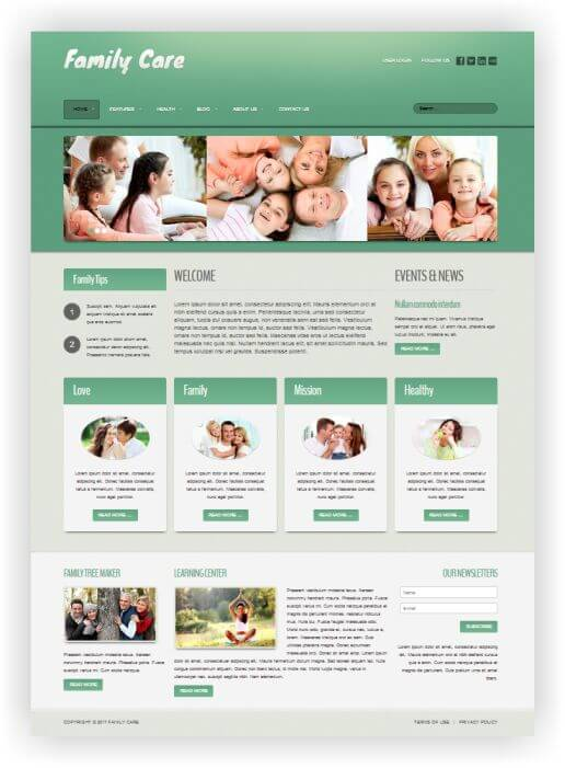 Joomla Family Care Template