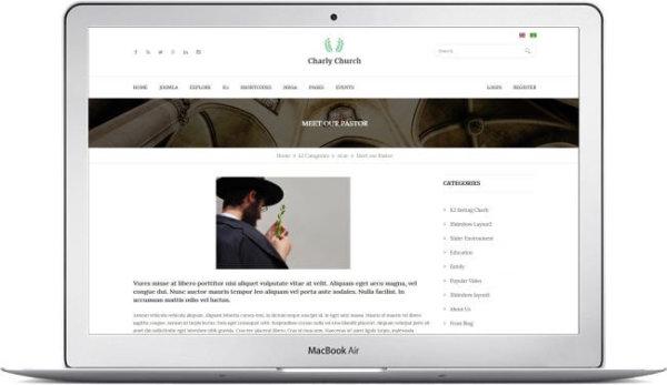 Webseiten Vorlage für Gemeinde