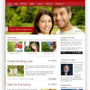 Webseiten Vorlage für Kirche