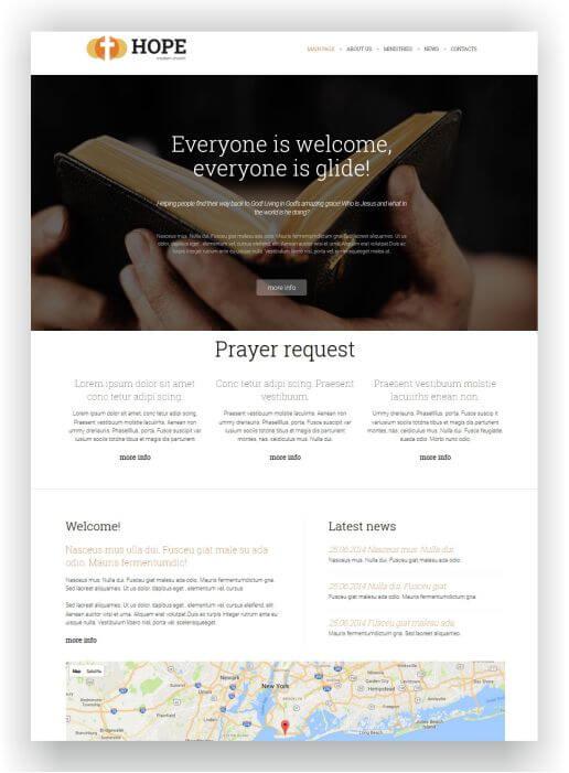Joomla Onlinechurch Template