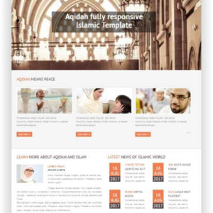 Joomla Islamic Template