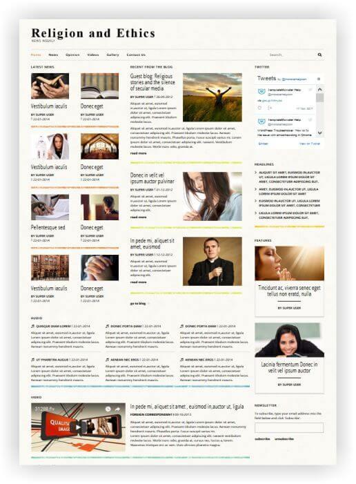 Kirchenmagazin Webseite