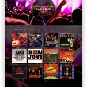 Webseite für Rock Cafe