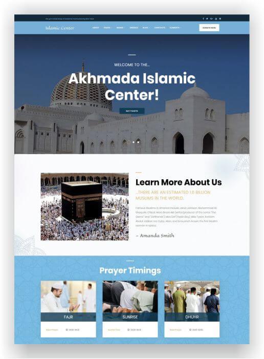 WordPress Islamic Theme
