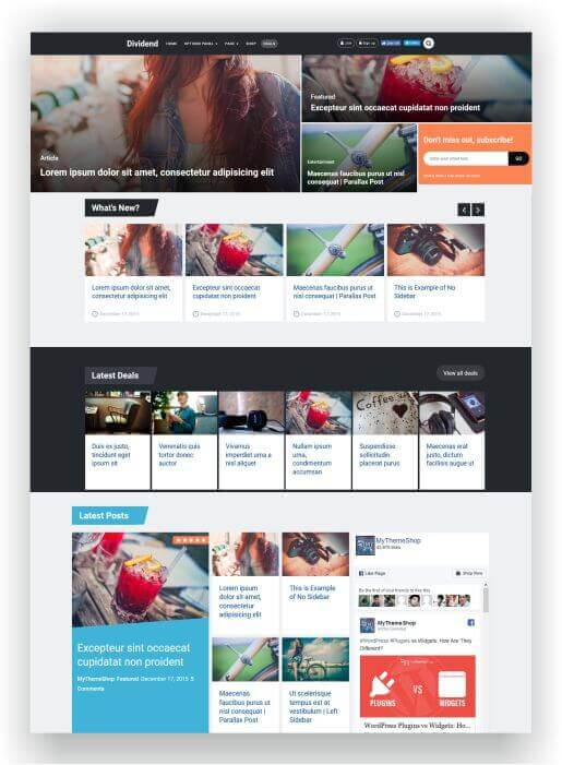 WordPress Magazine with Onlineshop
