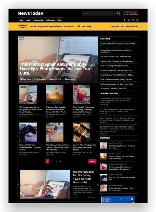 WordPress News Magazine NewsToday