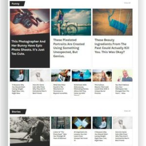 WordPress minimalistic Magazine Theme