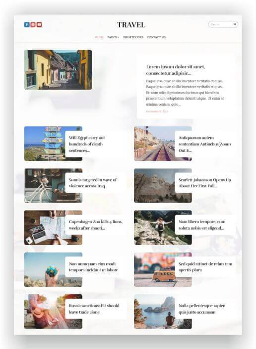 WordPress Reise Magazin