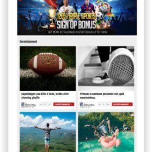 WordPress Sport Magazine Theme
