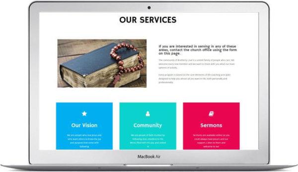 WordPress modern Church Theme