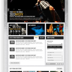HTML Bandwebseite