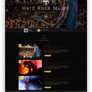 Hard Rock Band Template