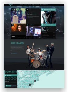 HTML Music One Page Template