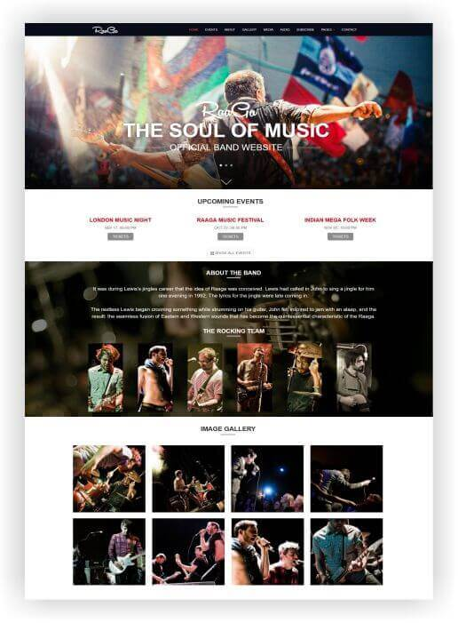 HTML5 Music Band Template