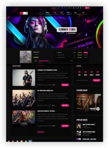 HTML Music Template