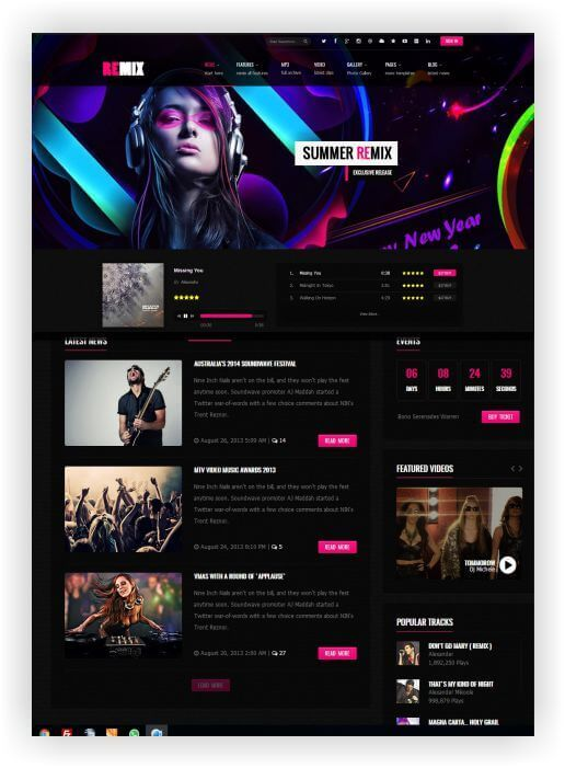 HTML Music Template