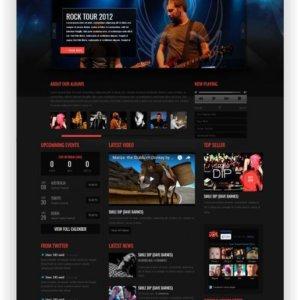 HTML Musik Band