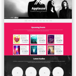 One Page Music Template