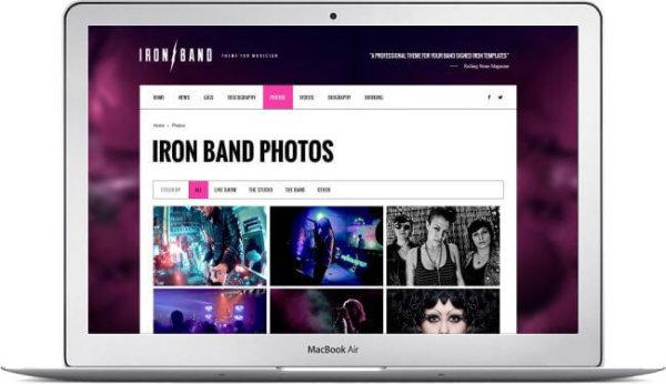 HTML5 Musicians Template