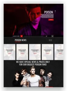 HTML Band Website Template