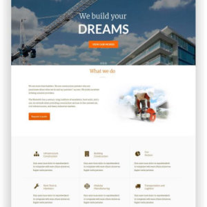 WordPress Construction Theme