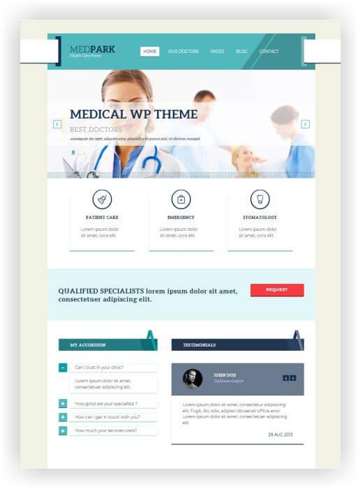 WordPress Medic Theme