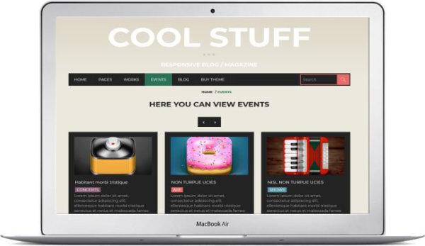 WordPress Thema mit Event Seite
