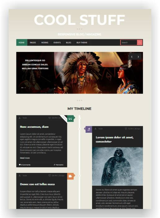 WordPress Theme with Event Page