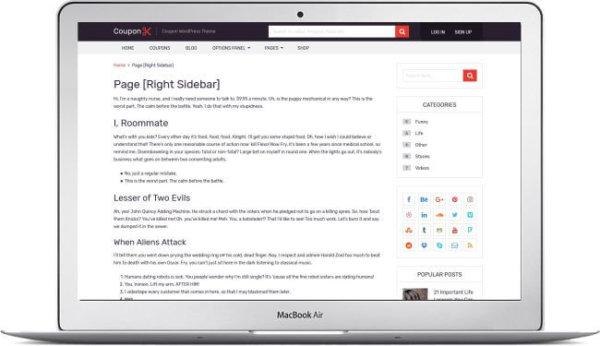 WordPress Coupon Website