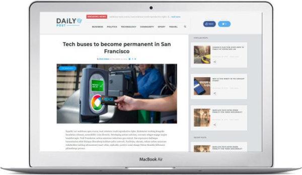 WordPress News Magazine Daily Post