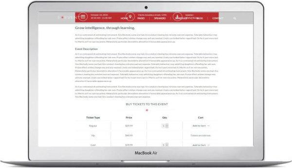 WordPress Event Template