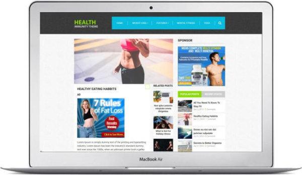 Gesundheits Webseite mit WordPress