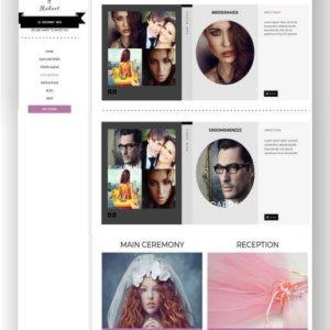 Hochzeitseinladung Webseite