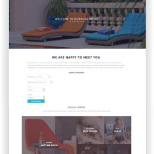 WordPress Resort and Hotel Theme