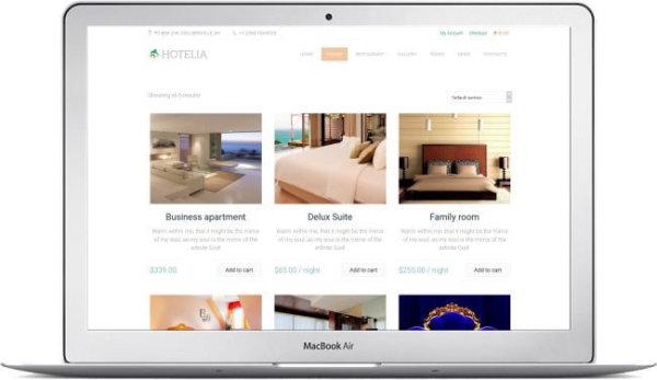 WordPress Hotel and Restaurant Theme